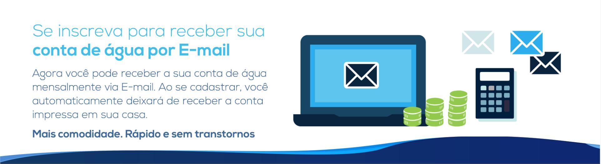 Receber conta por email